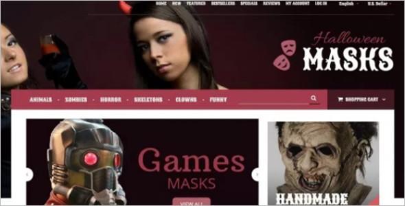Halloween Masks OsCommerce Template