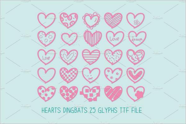 Hearts Dingbats Font