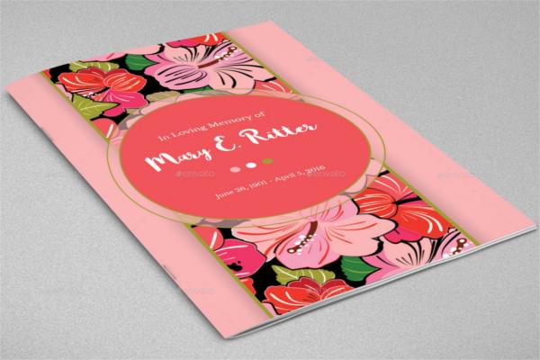 Hibiscus Funeral Program Outlook