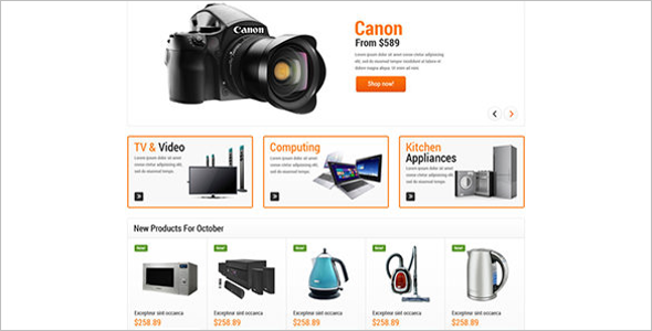 Home Electronic OsCommerce Template