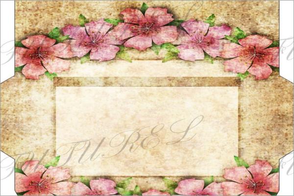 Illustration Handwork Envelope Template
