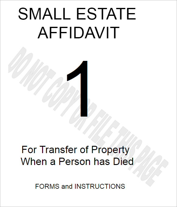 Indiana Small Estate Affidavit Form