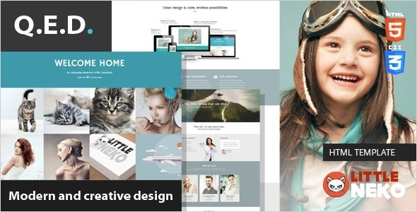 Infographic Bootstrap Business Template