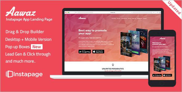 Instapage App Landing Marketing Template