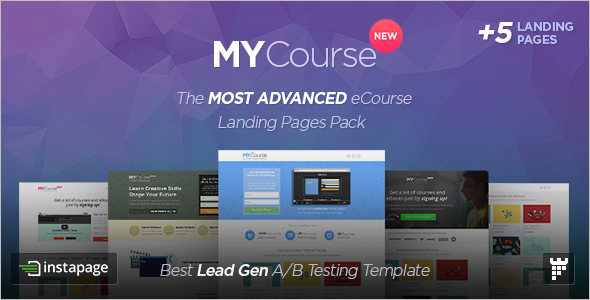 Instapage ECourse Landing page Template