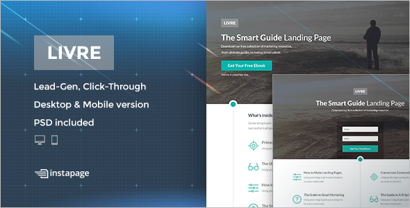 Instapage Guige Landing Page Template