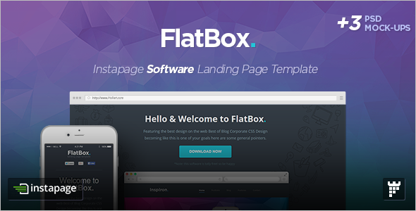Instapage Startup Landing Page Template