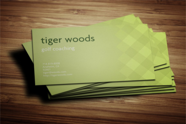 Instructor Business Card Ideas