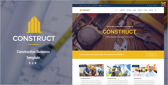 Joomla Construction Business Template