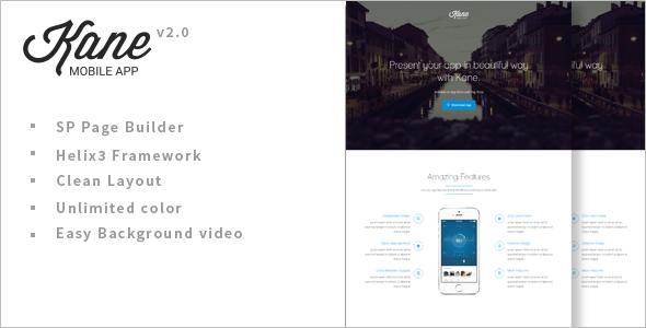 Kane Parallax App Landing Page