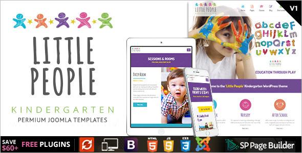 Kindergarten Full Screen Video Website