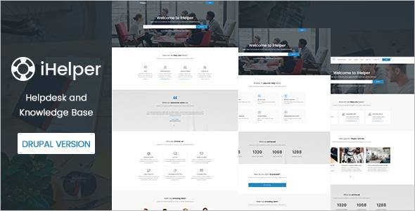 Knowledge & Helpdesk Website Template Model
