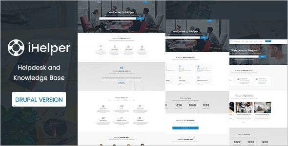 Knowledge & Helpdesk Website Template Model