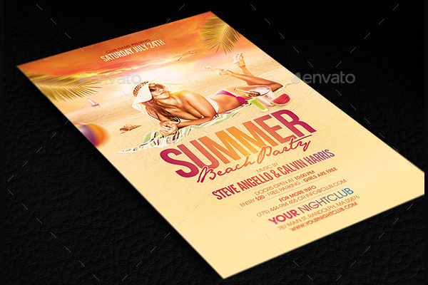 Ladies Pool Party Flyer PSD