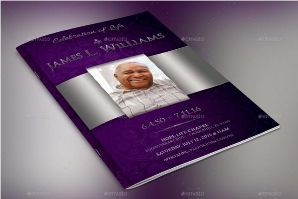 Lavender Funeral Brochure Outlook