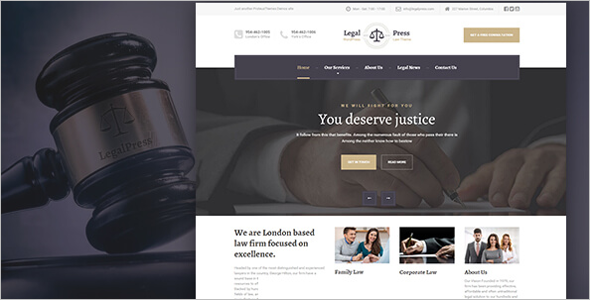 LegalPress Google Slider Theme
