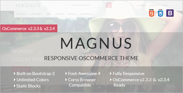 Magnus Stylish OsCommerce Theme