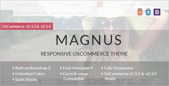Magnus Stylish OsCommerce Theme