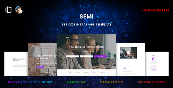 Marketing Service Instapage Template