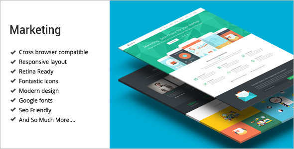 Marketing Startup Landing Page Template