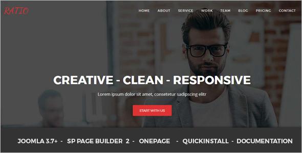 Material Design Agency Joomla Theme