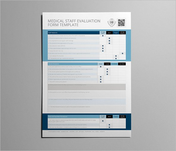 Medical Staff Evaluation Form