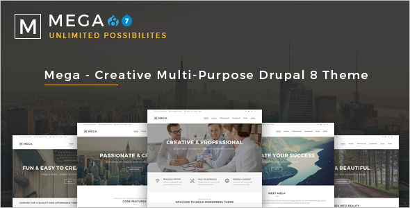 Mega Creative Multi-Purpose Drupal 8 Theme