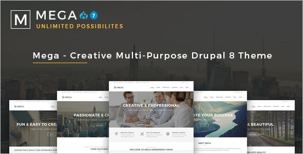 Mega Creative Multi-Purpose Drupal 8 Theme