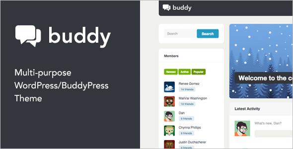 Minimal BuddyPress WordPress Template