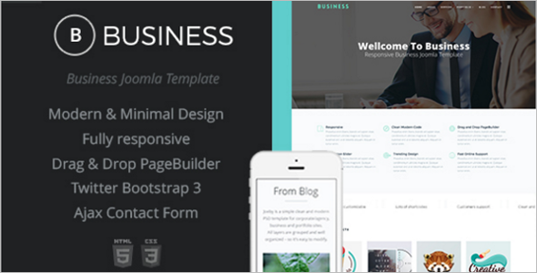 Minimal Business Design Agency Template