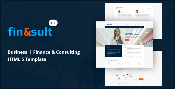 Minimal Consultancy Business Website Template