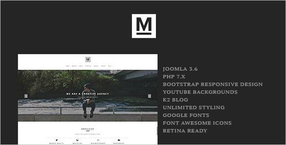 Minimal One Page Joomla Template