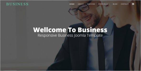 Modern Business Joomla Website Theme