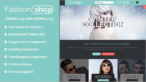 Modern E-commerce Joomla Template