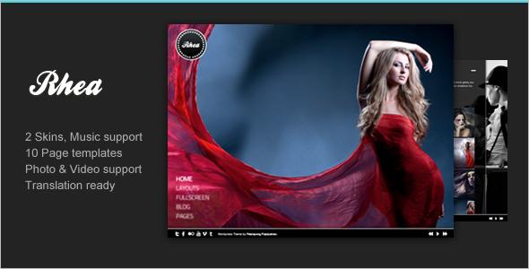 Modern Full Screen Website Template