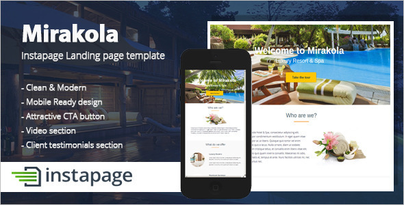 Modern Instapage Landing Page Template