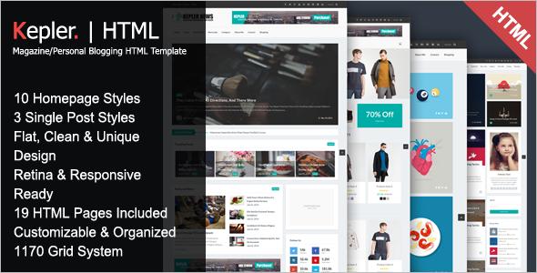 Modern Magazine Html Template