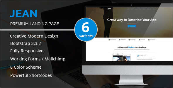 Modern Startup Landing Page Template