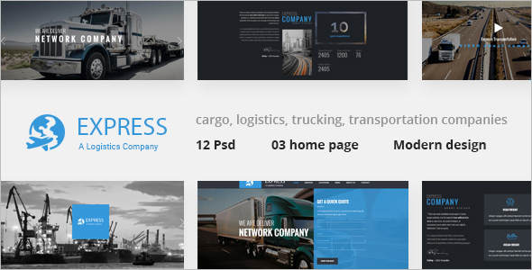 Modern Transport & Logistics PSD Template