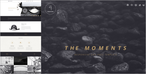 Moments Video Website Template