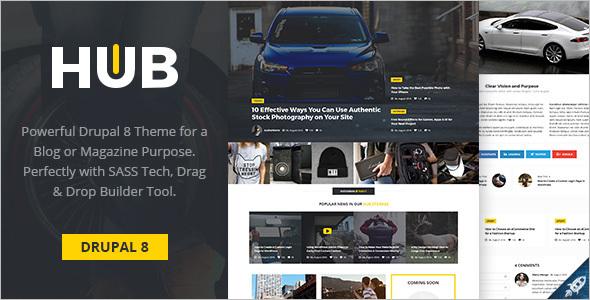 Multi Concept Magazine Drupal 8 Theme