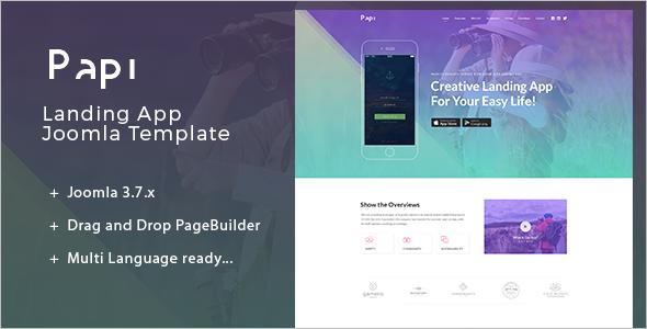 Multi-Language Landing App Joomla Template
