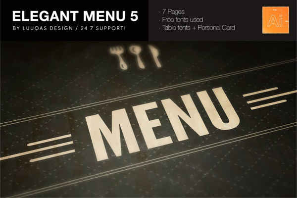 Multipurpose Elegant Menu Design