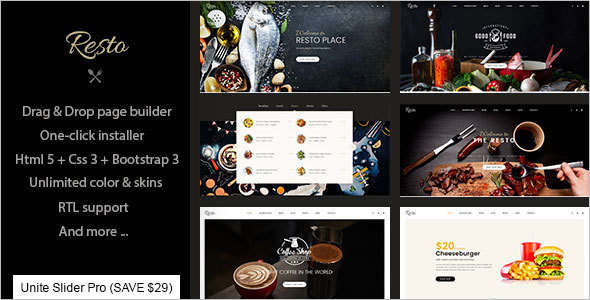 Multipurpose Restaurant & Cafe Joomla Template