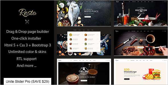 Multipurpose Restaurant & Cafe Joomla Template
