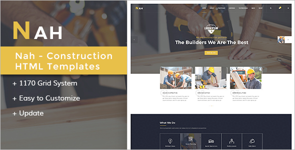 Nah Multipurpose Construction Drupal 8 Template
