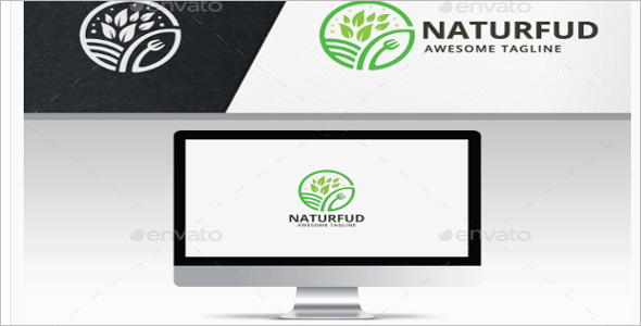 Nature Food Logo Design Template