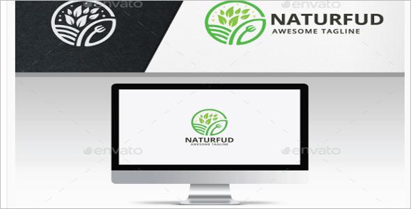 Nature Food Logo Design Template