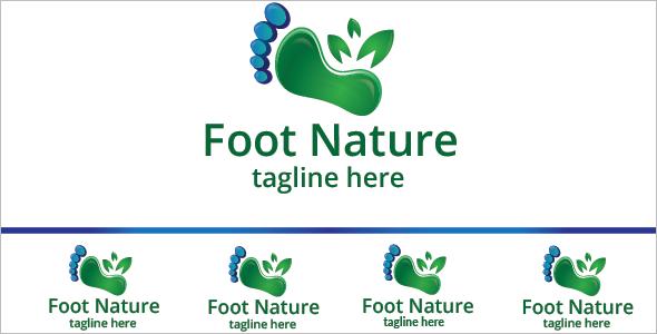 Nature logo Foot Design Template