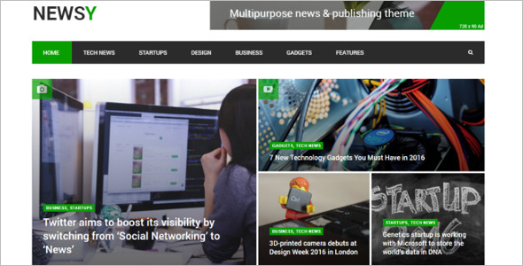 News Magazine Startup Website